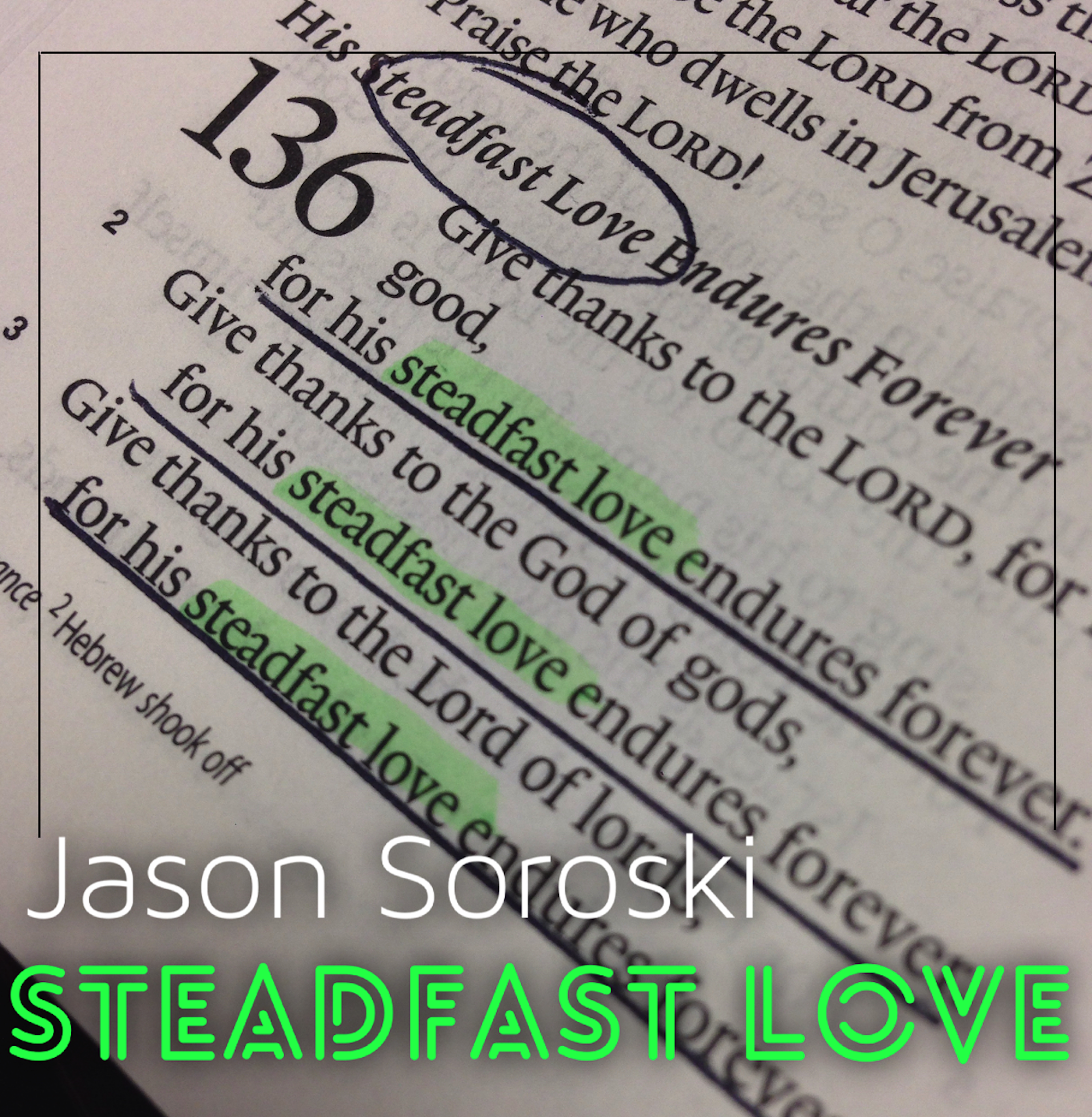 Steadfast Love Idea With Lines